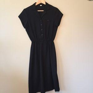 Vintage Black A-line Dress